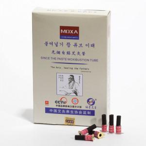 Verpackung Moxa Hütchen zum Aufkleben