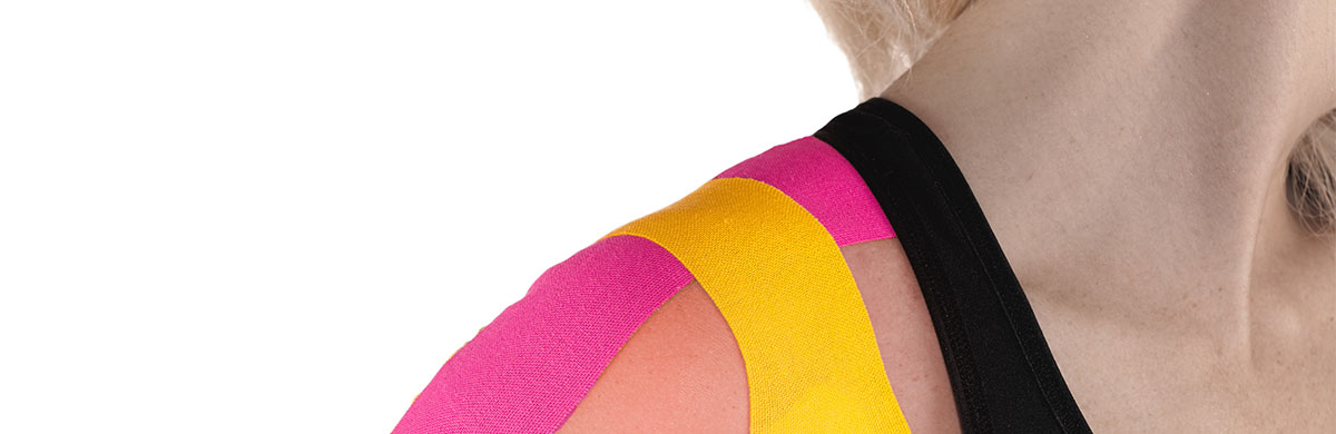 Kinesiologisches Taping des AC-Gelenks