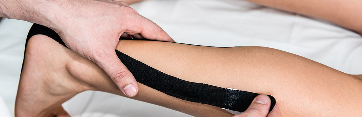 Kinesiologisches Taping der Archillessehne